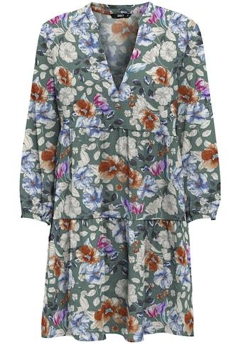 Only Druckkleid »ONLNOVA LIFE L/S THEA DRESS«, mit Volant kaufen