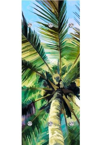 queence Garderobenpaneel »Palme«, mit 6 Haken, 50 x 120 cm kaufen