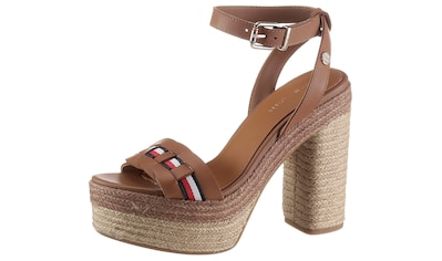 TOMMY HILFIGER High-Heel-Sandalette »TH INTERLACE HIGH HEEL SANDAL«, mit gestreiftem... kaufen