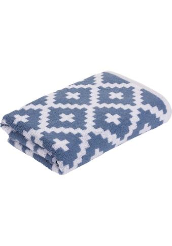 freundin Home Collection Handtücher »Freundin Rauten Graphics«, (2 St.), mit skandinavischem Design kaufen