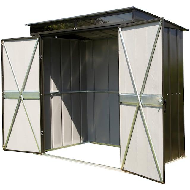 SPACEMAKER Stahlgerätehaus BxTxH: 208x130x201 cm