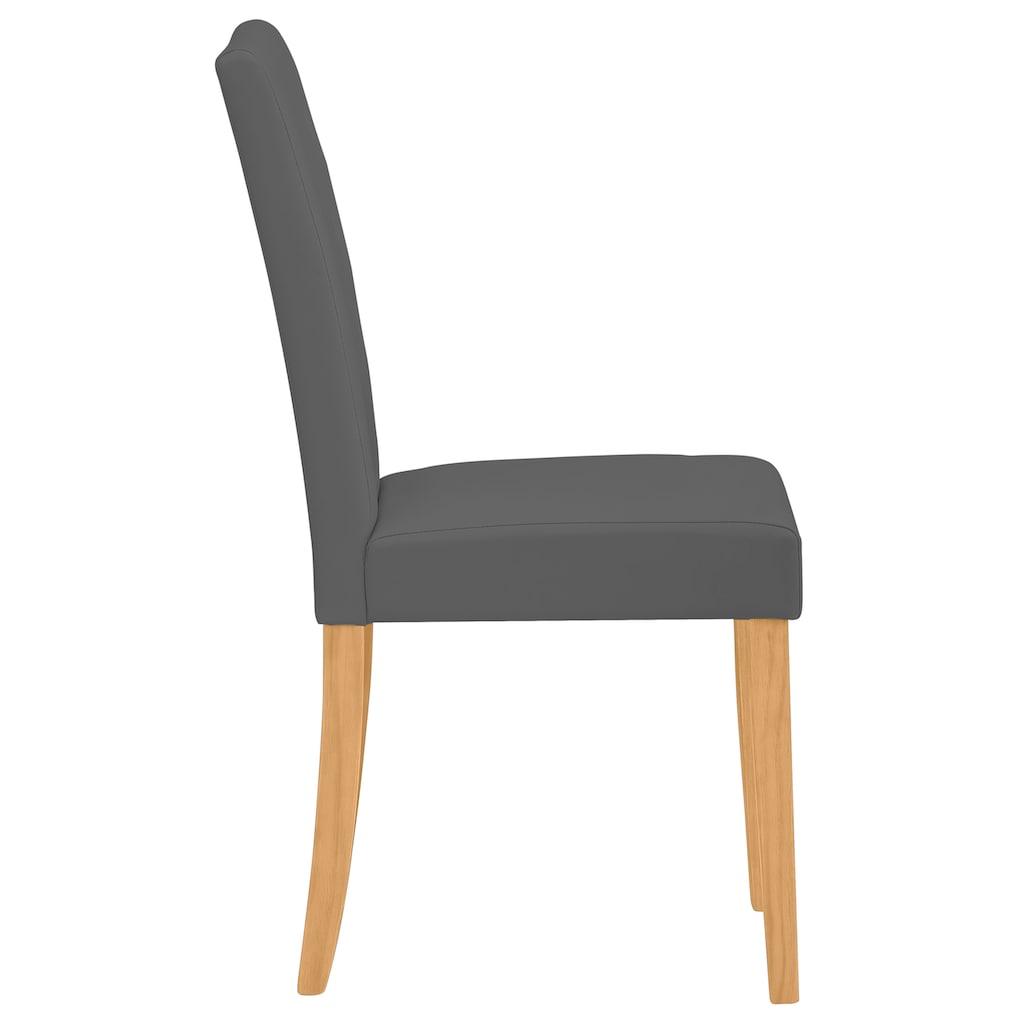 Home affaire Esszimmerstuhl »Boca«, mit einem schönen pflegeleichten Kunstlederbezug, wahlweise mit unterschiedlichen Beinfarben erhältlich, Sitzhöhe 47 cm
