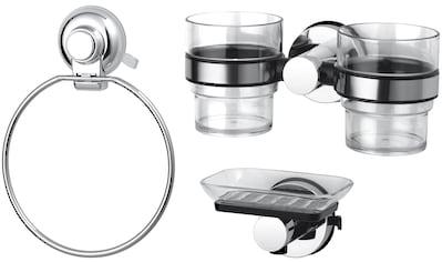 GSW Badaccessoires-Sets »HOOKIE System® 3-teilig«, Intelligenter Saughaken, roter Ring... kaufen