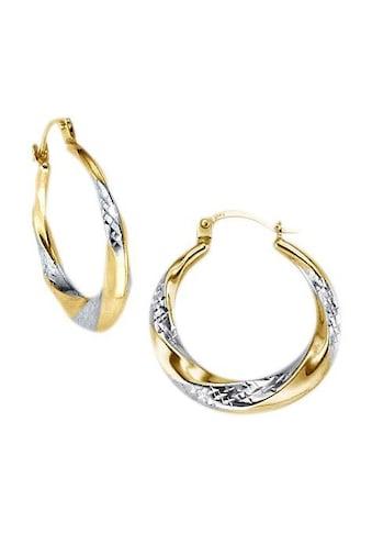 Firetti Paar Creolen »diamantiert, bicolor« kaufen