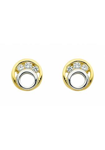 Adelia´s Paar Ohrhänger »333 Gold Ohrringe / Ohrstecker mit Zirkonia« kaufen