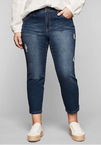Sheego Stretch-Jeans, in 7/8-Länge mit Destroyed-Effekten kaufen