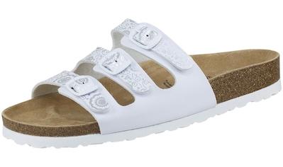 Pantolette »560052 Bioline Pantolette weiß/silber«, Bioline Pantolette weiß/silber kaufen