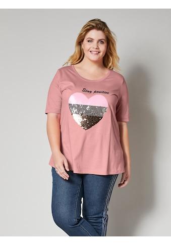 Angel of Style by Happy Size Shirt mit Paillettenherz kaufen