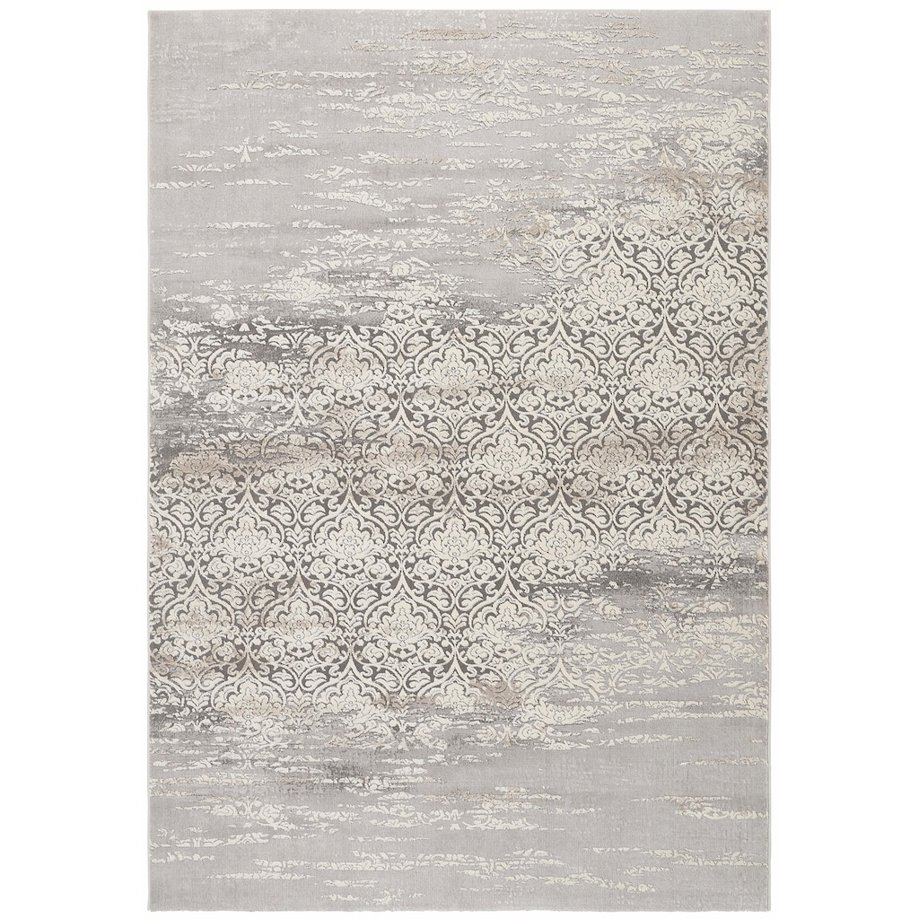 merinos Teppich »Danica«, rechteckig, 12 mm Höhe, Vintage Design, Hoch-Tief-Effekt, Wohnzimmer