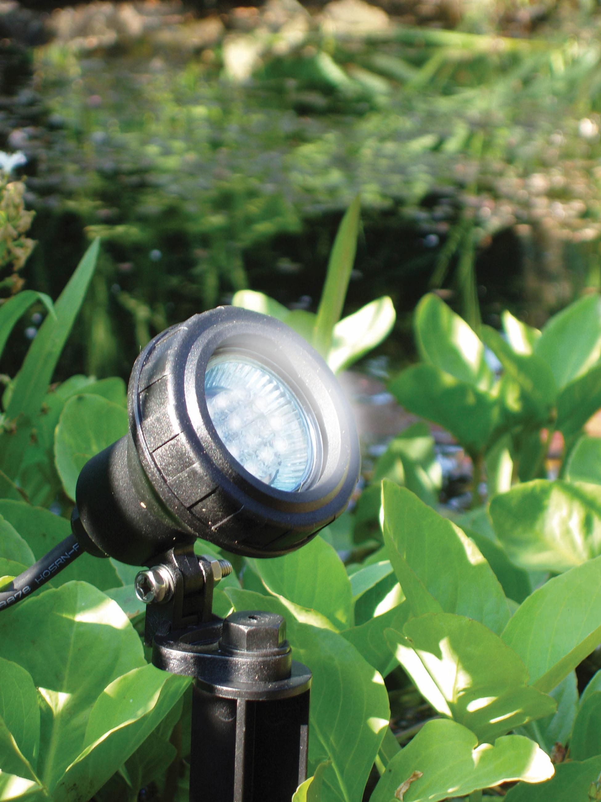 Teichbeleuchtung Multibright, LED-Strahler inkl. 4 Farbscheiben