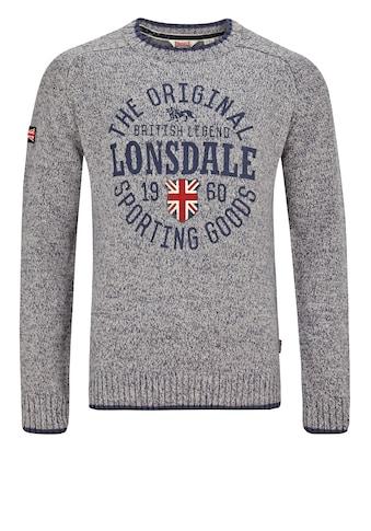 Lonsdale Pullover im Strickdesign »BORDEN« kaufen
