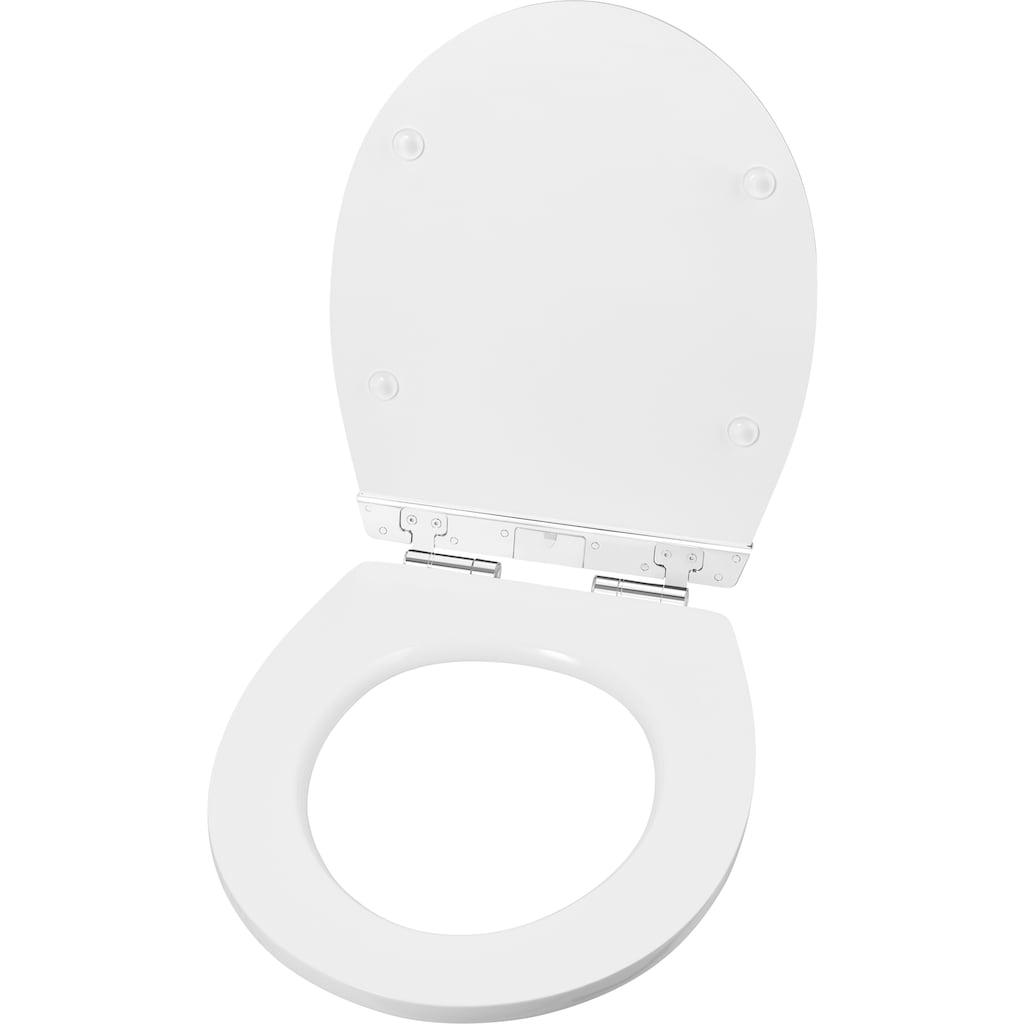 CORNAT WC-Sitz, mit integrierten LEDs, die bei Dunkelheit durch Geräusche für ca. 30 Sekunden erleuchten