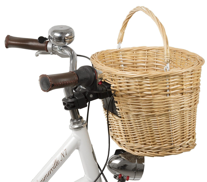 M-Wave Fahrradkorb BA-FW Clip braun Fahrradkörbe Fahrradzubehör Fahrräder Zubehör Taschen