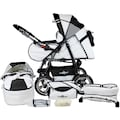 bergsteiger Kombi-Kinderwagen »Rio, black & white, 3in1«, mit Lufträdern; Made in Europe; Kinderwagen