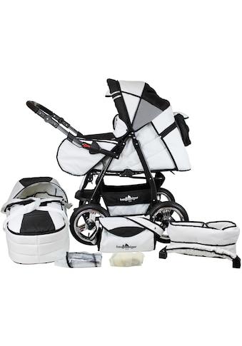 bergsteiger Kombi-Kinderwagen »Rio, black & white, 3in1«, mit Lufträdern; Made in Europe kaufen