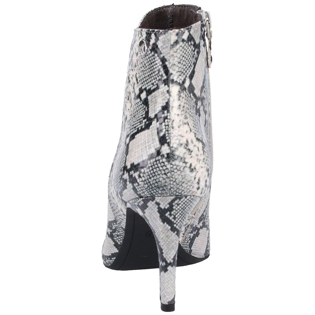 s.Oliver BLACK LABEL High-Heel-Stiefelette »Lederimitat«