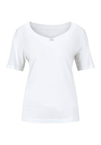 Classic Shirt mit Glitzersteinchen und silberfarbenen Metallplättchen kaufen