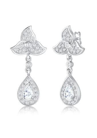 Elli Paar Ohrhänger »Blume Blüte Tropfen Zirkonia Kristalle 925 Silber« kaufen