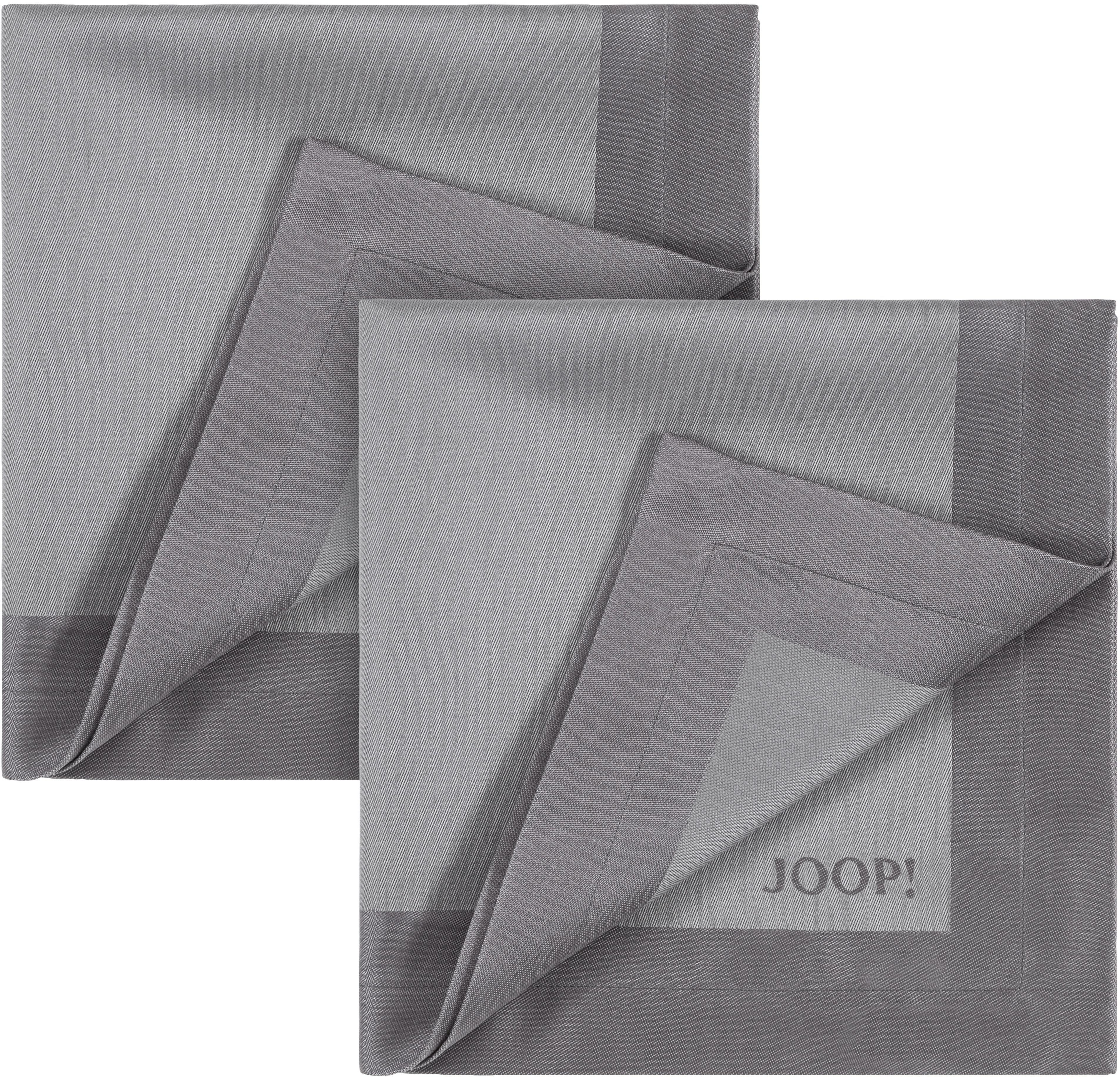 Joop! Joop Stoffserviette SIGNATURE, Aus Jacquard-Gewebe gerfertigt mit JOOP Logo-Dekor silberfarben Stoffservietten Tischwäsche