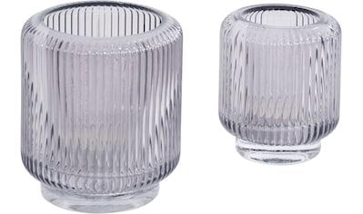 Guido Maria Kretschmer Home&Living Windlicht »Laurentina«, aus Glas, mit Rillen kaufen