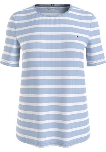 Tommy Hilfiger Rundhalsshirt »Regular Stripe C-Nk Top SS«, mit allover Ringle & Tommy... kaufen