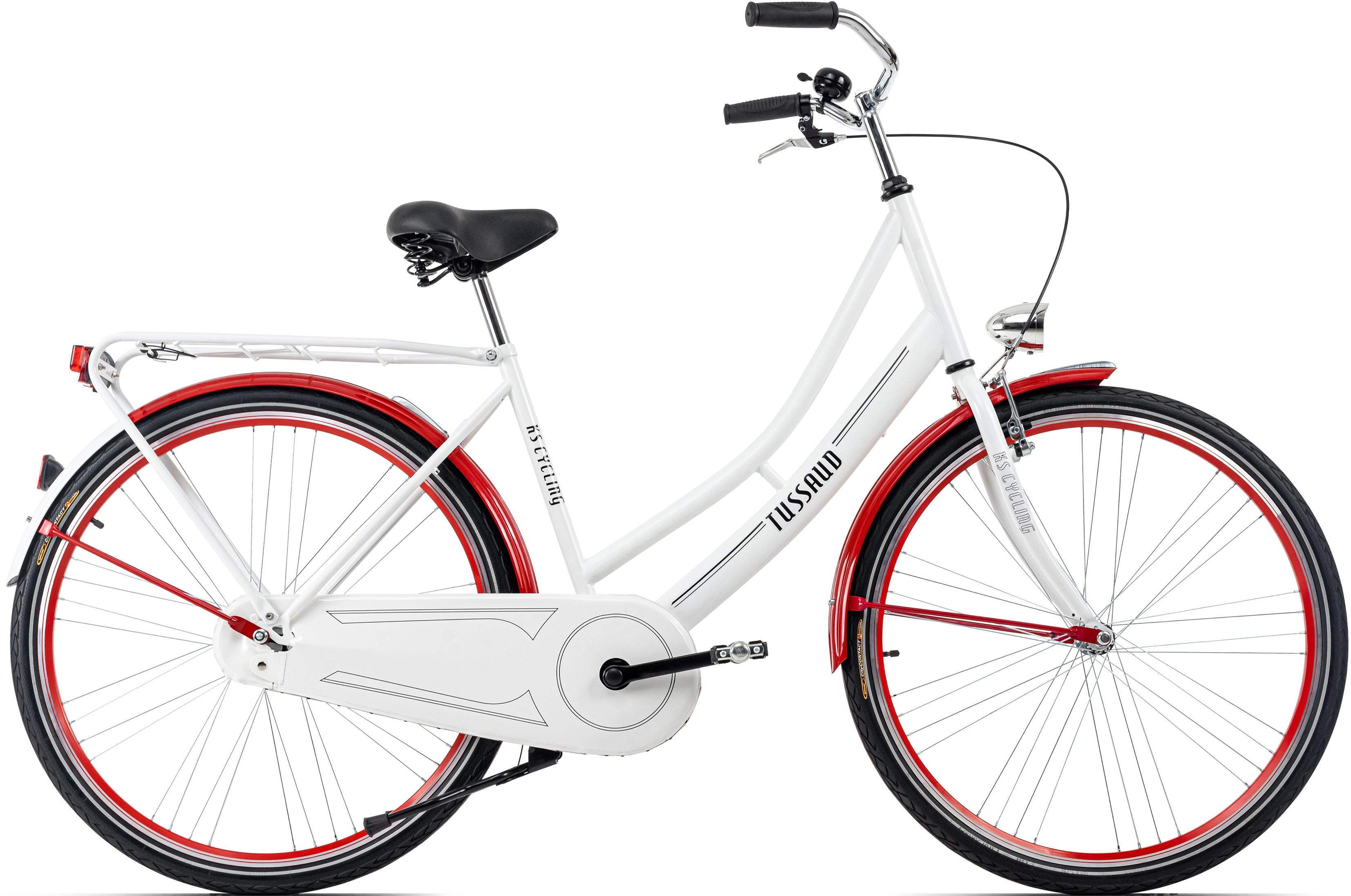 KS Cycling Hollandrad Tussaud, 1 Gang weiß Hollandräder Fahrräder Zubehör