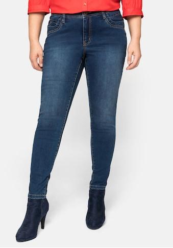 Sheego Stretch-Jeans, hinten mit höher geschnittenem Bund kaufen