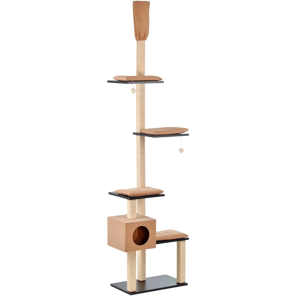 SILVIO design Kratzbaum »Bashira«, hoch, BxTxH: 73x47x230-260 cm