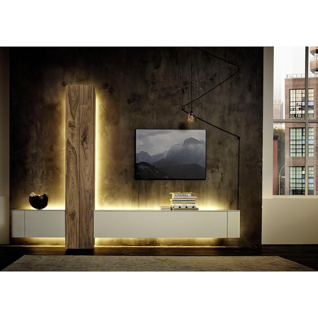 hülsta Wohnzimmer-Set »GENTIS«, (Set, 3 tlg.), inklusive Beleuchtung