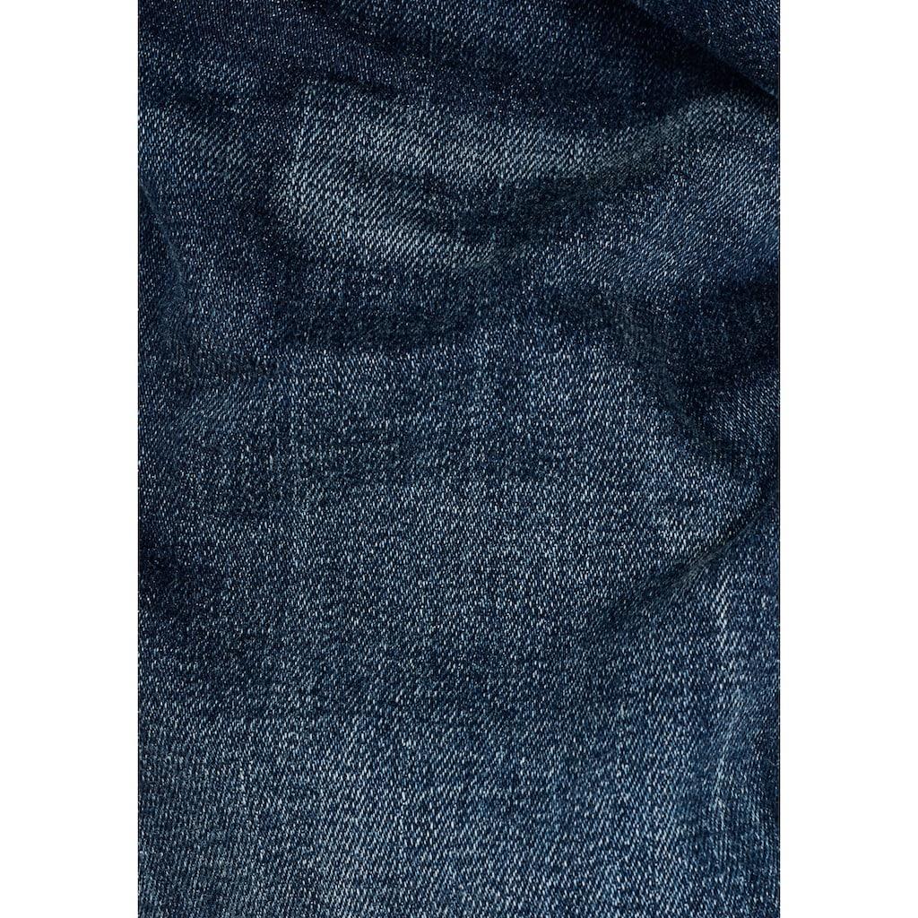 G-Star RAW Straight-Jeans »Midge Saddle Straight«, 5-Pocket-Design mit markanten Steppnähten