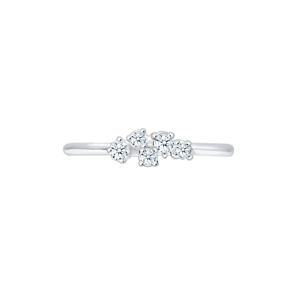Diamore Verlobungsring »Verlobung Diamant (0.105 ct) Pavé 925 Silber«