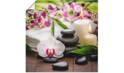 Artland Wandbild »Spa Orchideen Bambus Kerze«, Zen Bilder, (1 St.), in vielen Größen &... kaufen