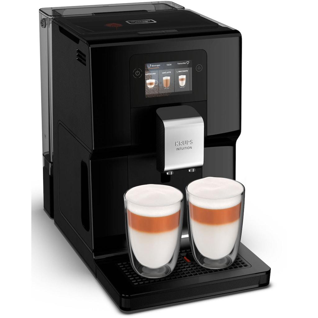 Krups Kaffeevollautomat EA8738 Intuition Preference, 2,3l Tank, Kegelmahlwerk
