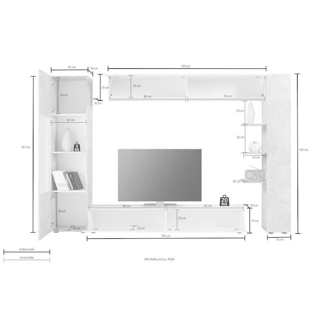 LC Wohnwand »Sorano« (Set, 4-tlg)
