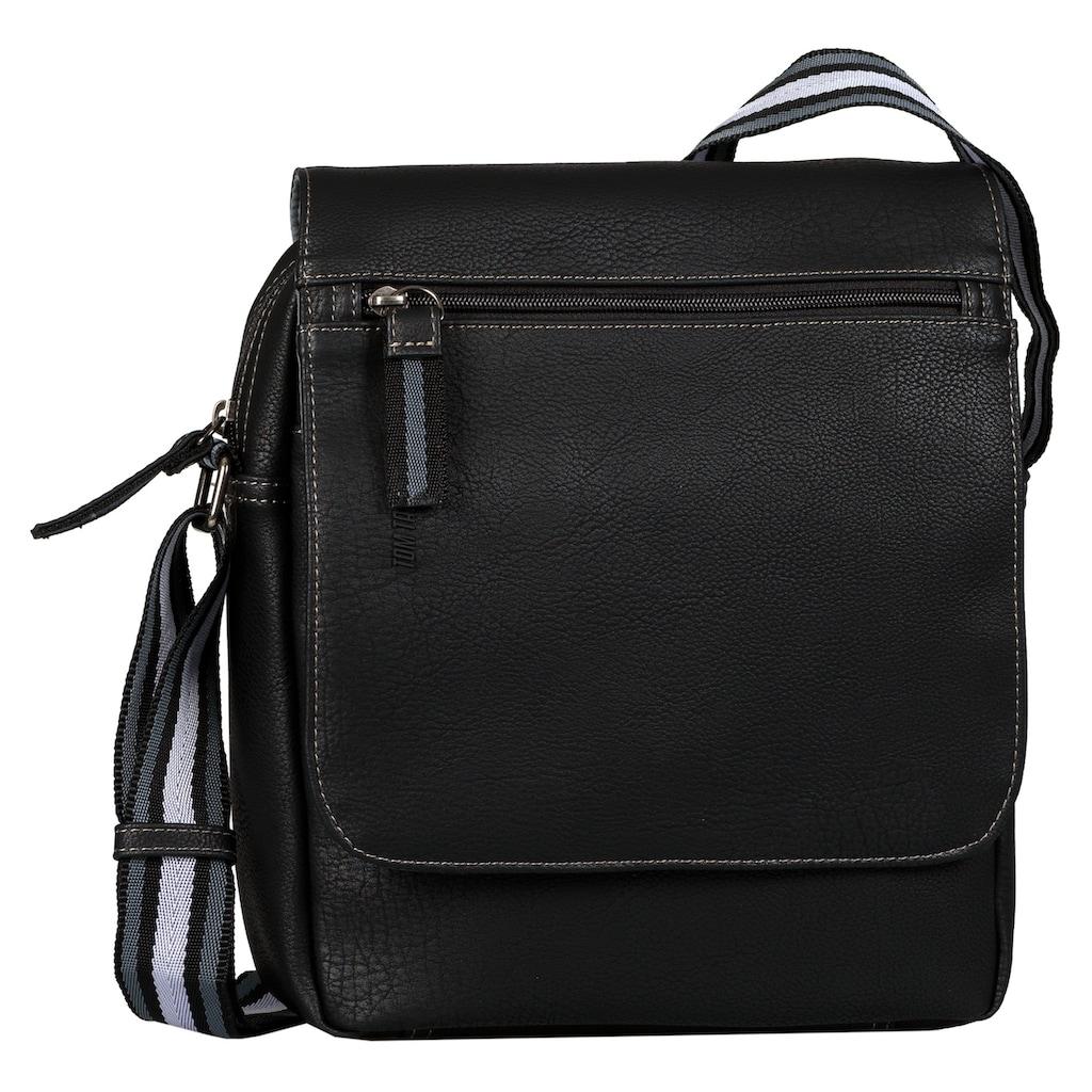 TOM TAILOR Umhängetasche »Warren Flap Bag«, mit Reißverschluss-Rückfach