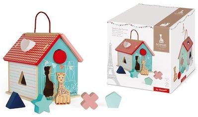 """Janod Steckspielzeug """"Sophie la Girafe Steck - und Sortierspiel Haus"""" kaufen"""
