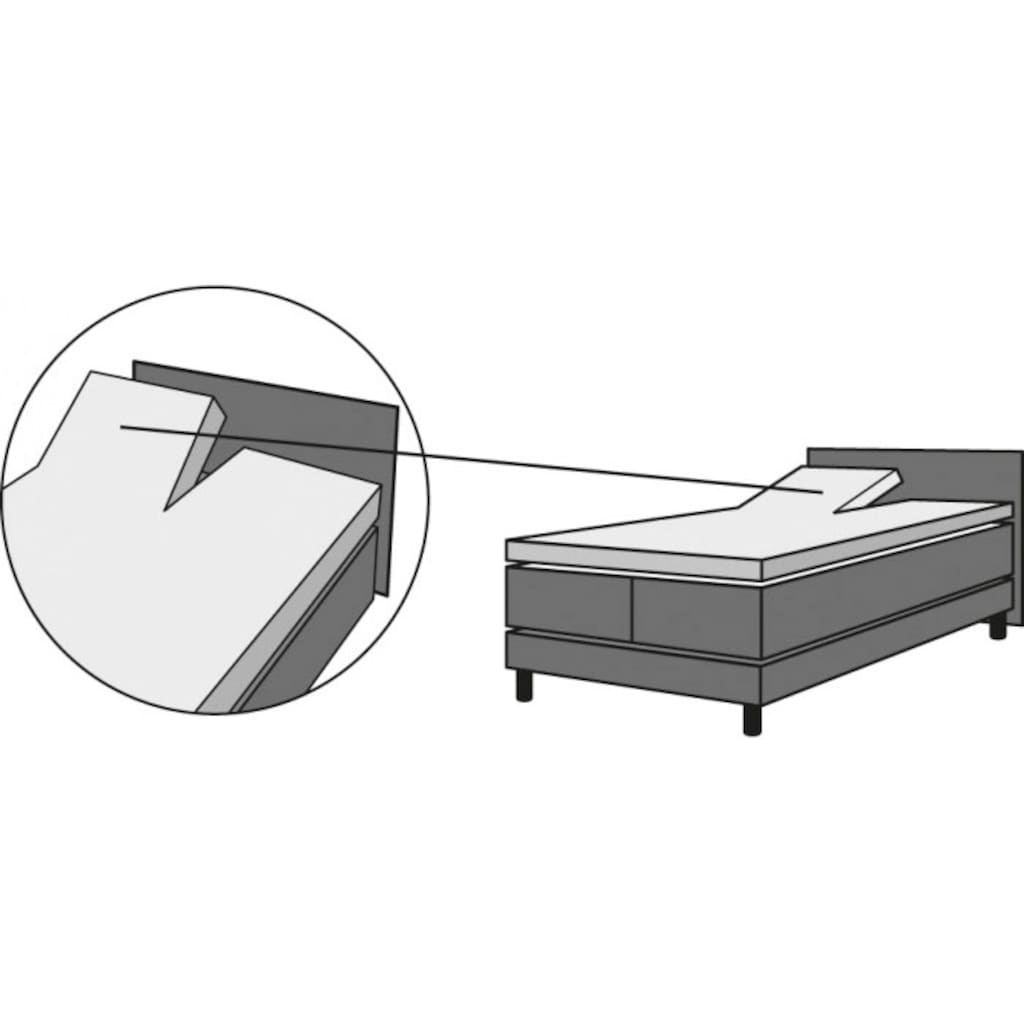 Schlafgut Spannbettlaken »Jersey-Elasthan«, für Split-Topper