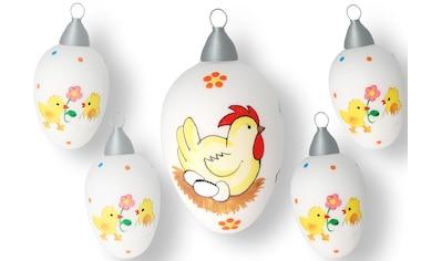 Krebs Glas Lauscha Osterei »Henne mit Eiern und Küken« kaufen