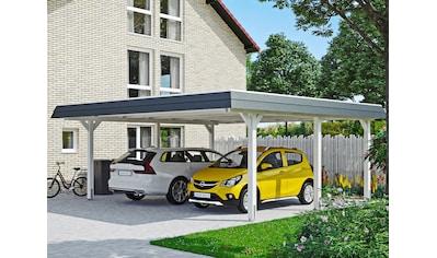 Skanholz Doppelcarport »Wendland«, Leimholz-Nordisches Fichtenholz, 550 cm, weiß kaufen