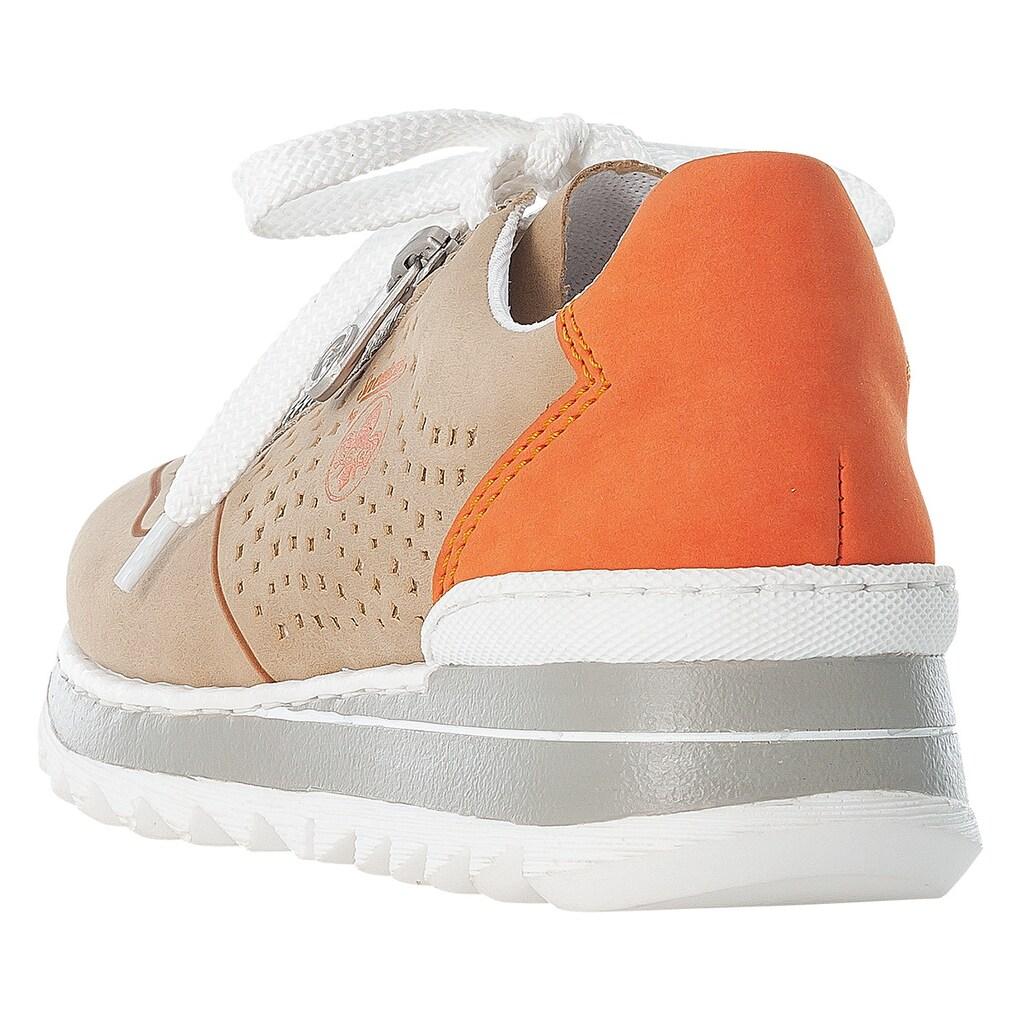 Rieker Wedgesneaker, mit perforierter Oberfläche