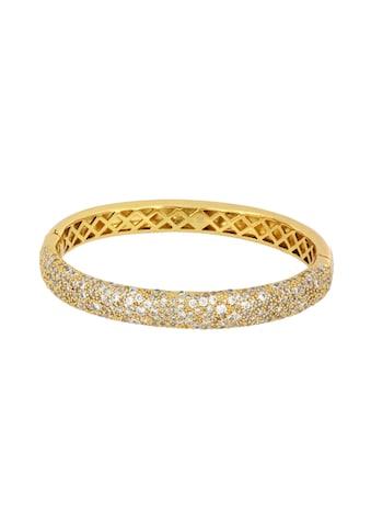 mashiah Armreif »Armreif«, mit Zirkonia, Bronze gelbvergoldet kaufen