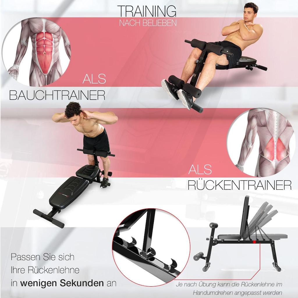 Sportstech Hantelbank »BRT500«, 8in1 Rückentrainer und Bauchtrainer, Curlpult, klappbar