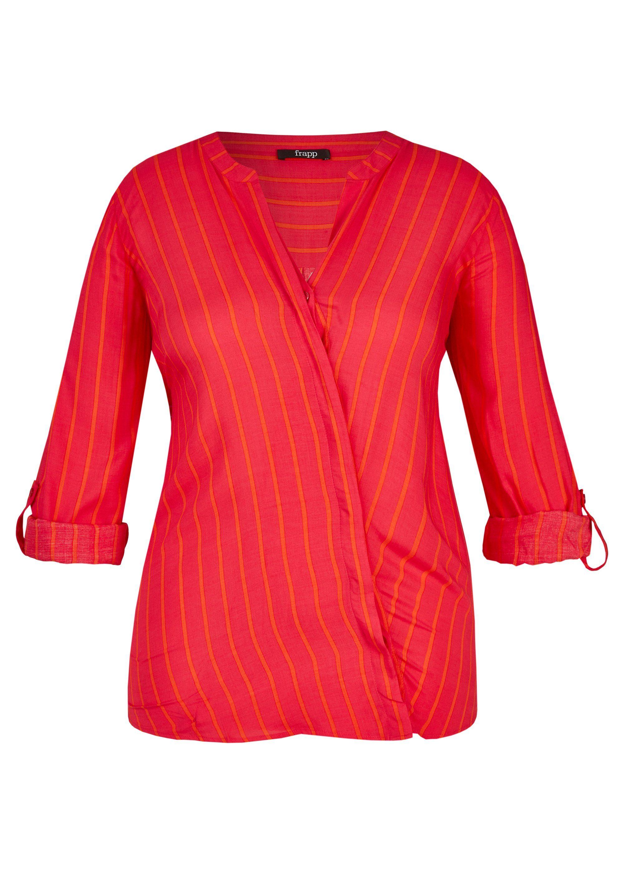 FRAPP Auffällige Bluse mit Allover-Streifen