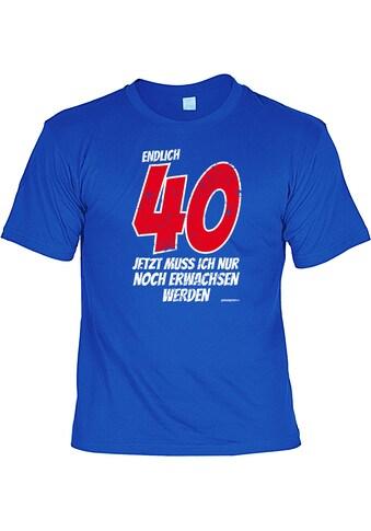 Der Trachtler T - Shirt mit Nackenband »Endlich 40« kaufen