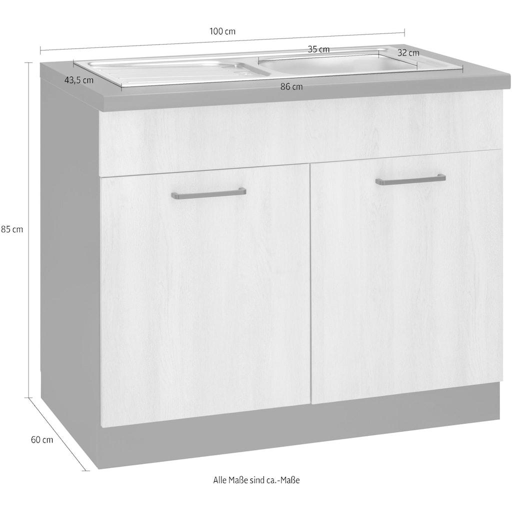 wiho Küchen Spülenschrank »Esbo«, 100 cm breit