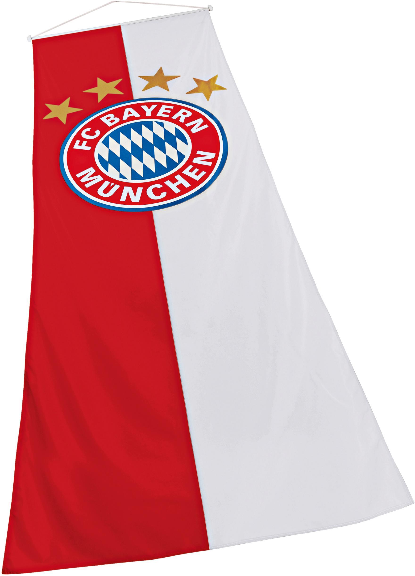 FC Bayern Fahne Bannerfahne, für Fahnenmasten rot Kinder Bundesliga-Fanshop Fanartikel