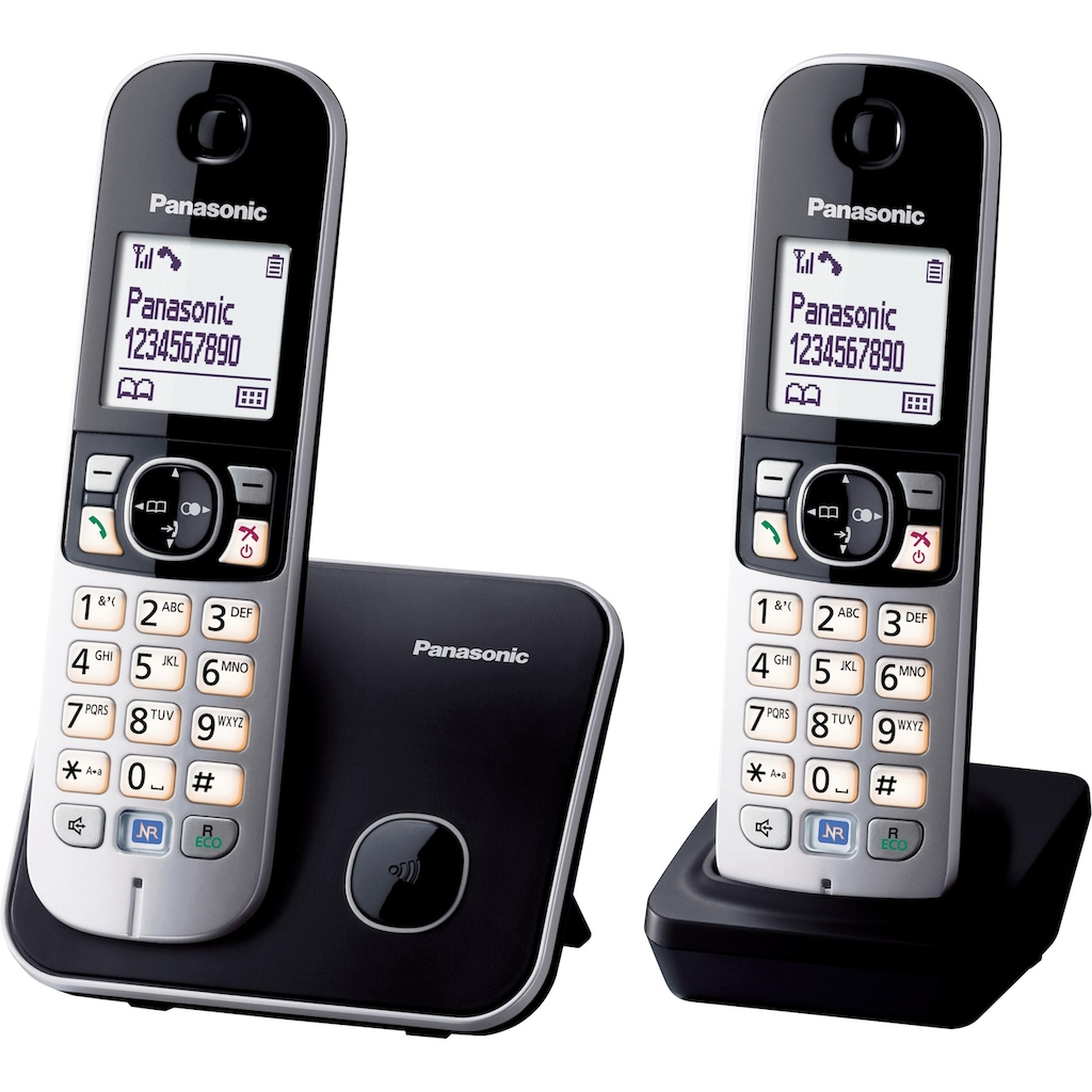 Panasonic Schnurloses DECT-Telefon »KX-TG6812GB«, mit Anrufer- und Wahlsperre