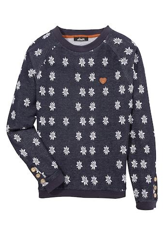 Hangowear Sweatshirt, Damen lässiger Sweater mit All-over Edelweiß Print kaufen
