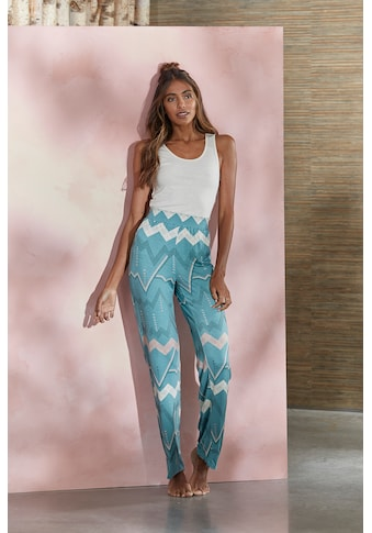 LASCANA Pyjamahose, mit grafischem Zick-Zack Muster kaufen