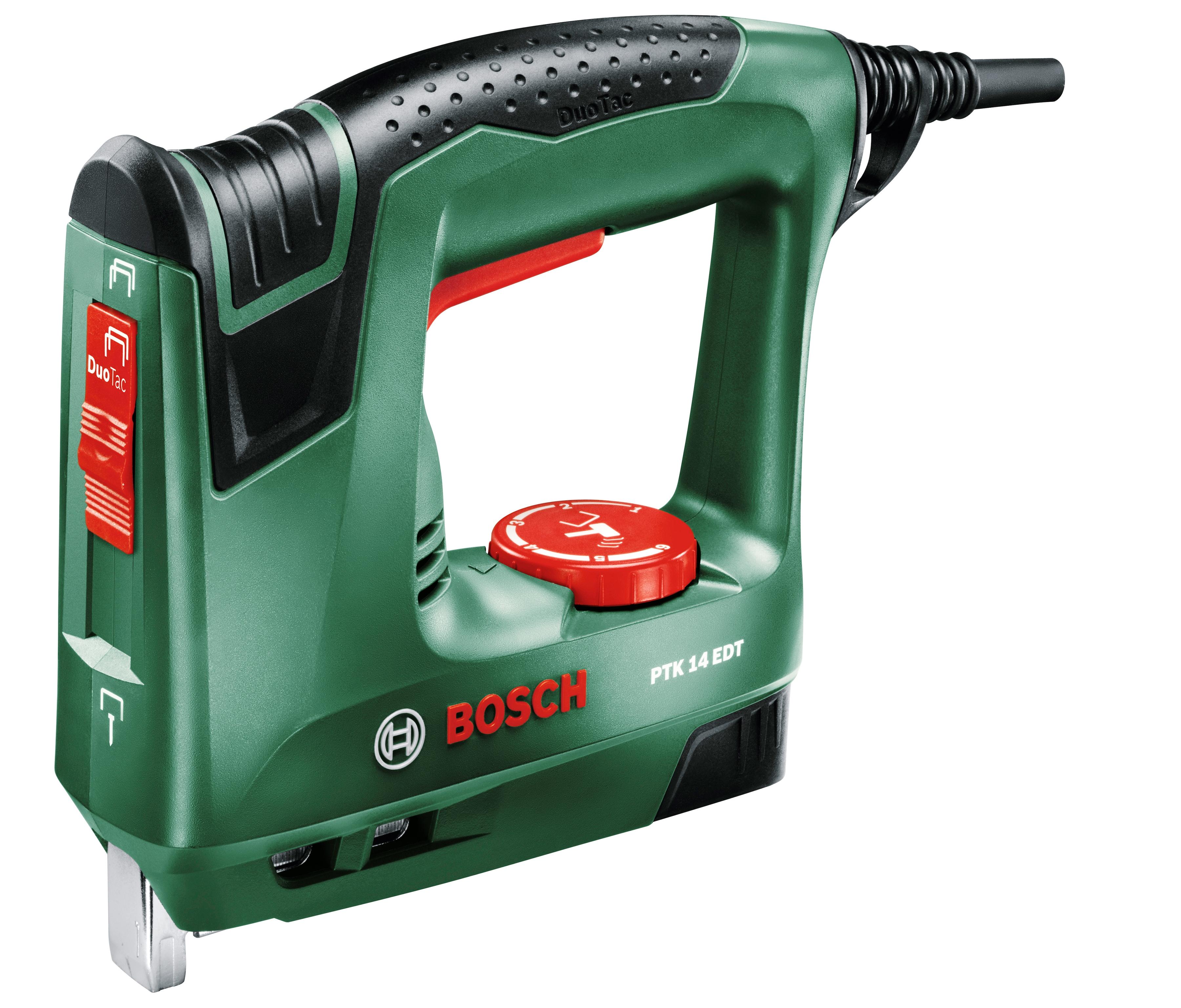 BOSCH Elektro-Tacker PTK 14 EDT grün Tacker Werkzeug Maschinen